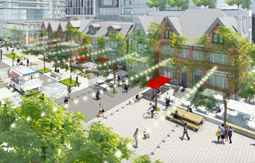 A future Mirvish Village: Taken from one of the images presented to the Toronto Preservation Board by ERA Architects Inc. on Mar. 23, 2017.
