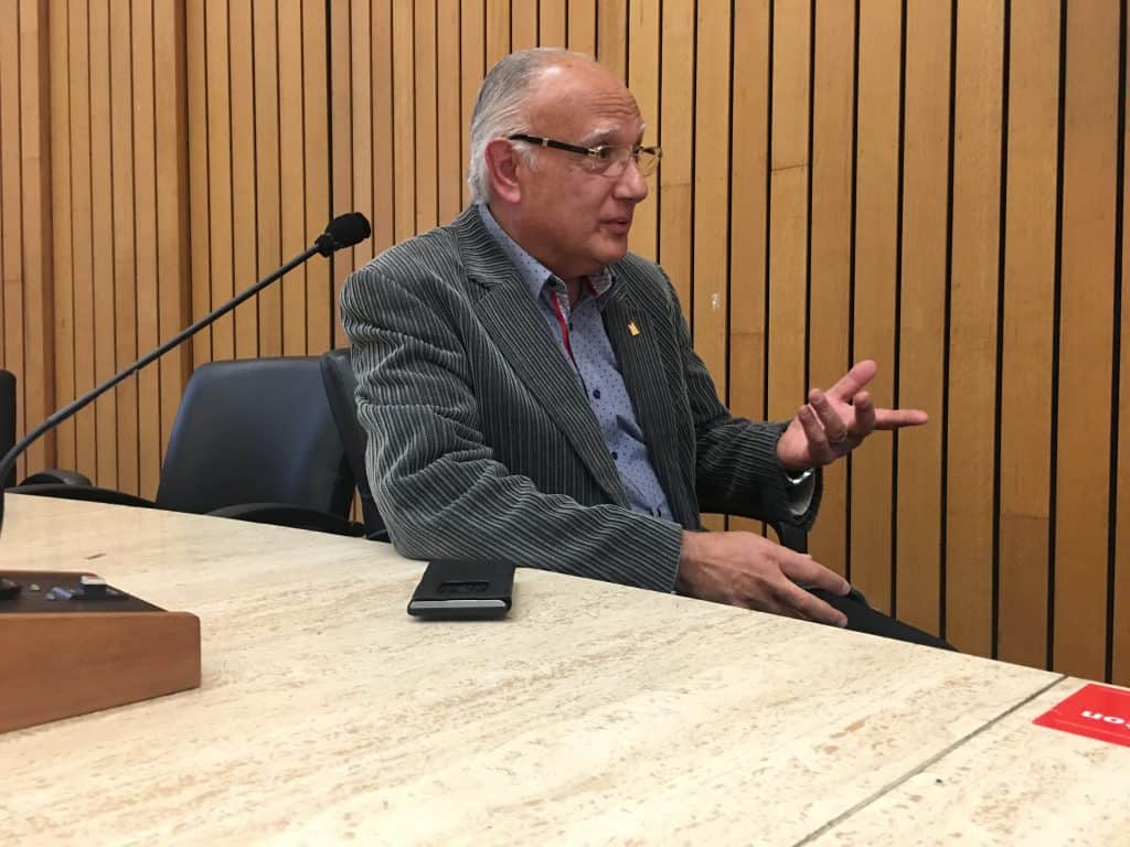 "1:08 p.m., Nov 22, 2017. Vincent Crisanti at the Etobicoke Civic Centre: ""Go after it, don't be afraid. And don't be afraid of rejection either. I encourage our young people because, look, if I was afraid of rejection, the first time if I thought, 'Oh, I lost. That's it, I'm done,' and walk away from this and get all down on myself, I wouldn't be here today, would I? Through my persistence, I took one loss, two losses, three losses, four losses. I came back. Why? Because it takes time to build. Certain things don't happen overnight."""