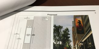 Photo of the proposed sign at 146 Bloor Street West.