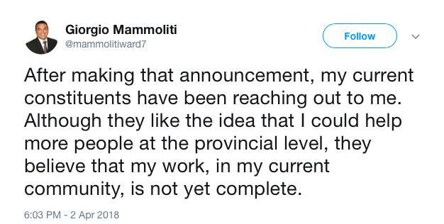 Tweet 2, April 2, 2018