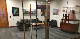 """11:29 a.m., April 10, 2018. Sticks outside Mayor John Tory's office. On Tuesday, Tory said to reporters, """"You know, it's shocking when these things actually happen in a given moment in time, but the time that becomes the most difficult is when the reality sets in, and when a few weeks have passed, and we just want those people in Humboldt and people around the country who are so profoundly affected by this to know that the people in the city of Toronto at the mayor's office are deeply affected by this as they are and that we're thinking about them."""""""