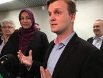 9:35 a.m. Councillor Joe Cressy's Ward 20 will be divided into two in the next election. Cressy is supporting candidate Ausma Malik (left) for councillor for the new ward.