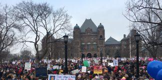Women's March Queens Park Toronto Jan 21