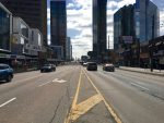12:05 p.m., March 2, 2018. Facing south on Yonge Street north of Sheppard Avenue. When it comes to assessing the best design options for the future of Yonge Street, the city's Medical Officer of Health says it's details like the width of car lanes that will make the difference in drivers' speed, and the overall vibrancy and safety of the streets.
