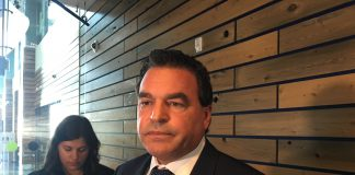 4:33 p.m., March 20, 2018. Councillor Giorgio Mammoliti after announcing he will be seeking the nomination for the Progressive Conservative candidate for Brampton Centre. As recent as last week he told reporters he was considering a run for mayor of Toronto.