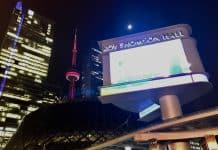 10:30 p.m. May 23, 2018. Roy Thomson Hall at night, home of the Toronto Symphony Orchestra – one of two organizations that had their funding cut this year.