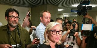 "2:06 p.m., July 27, 2018. Jennifer Keesmaat after registering to run for mayor of Toronto in the October municipal election. ""In changing times, we need changing leadership,"" Keesmaat told media. ""My commitment to this city is to work incredibly hard, to be incredibly collaborative and to not be afraid to make the hard choices and decisions when bold leadership is, in fact, required,"" Keesmaat said, not taking questions from reporters."