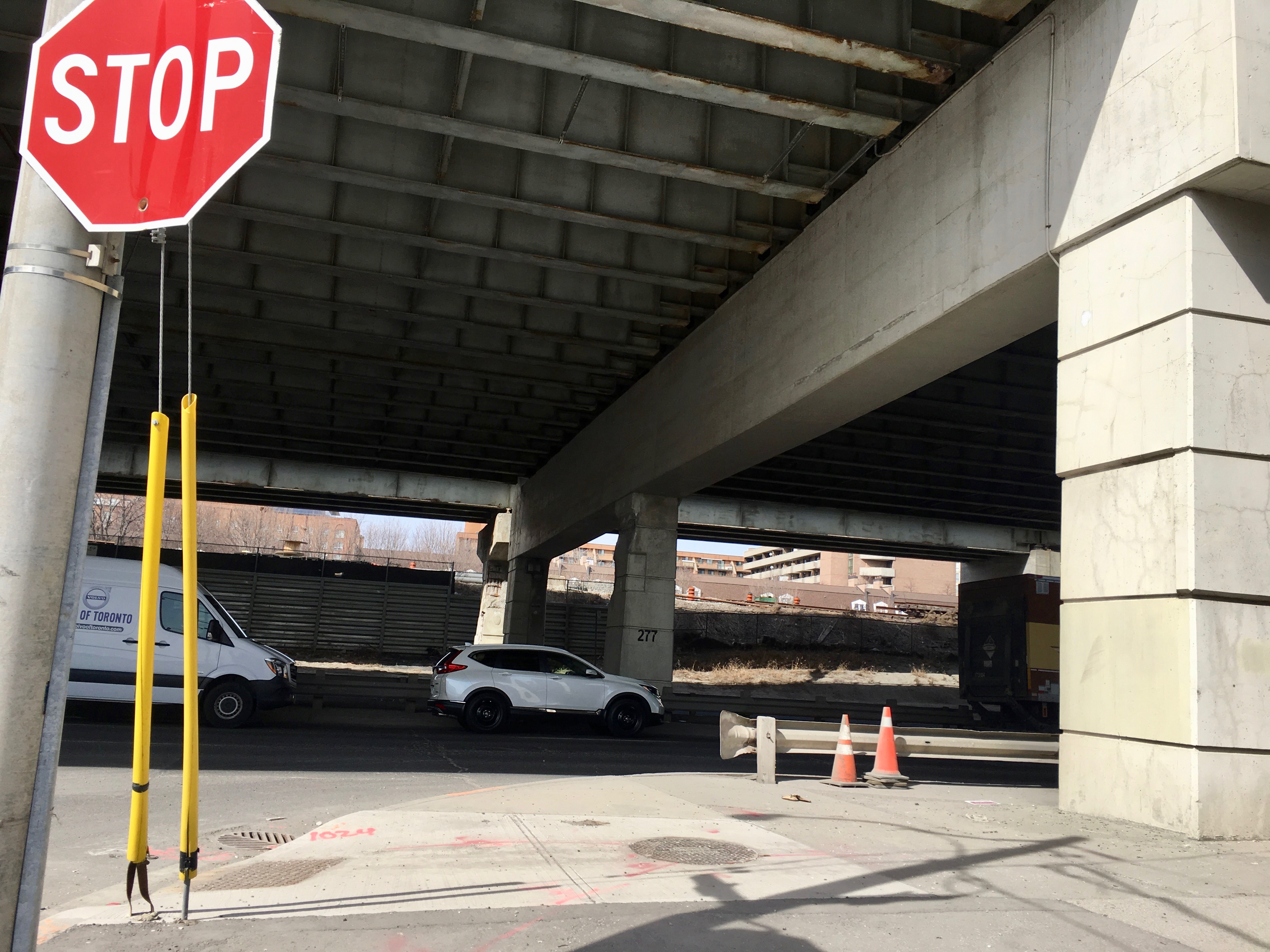 3:03 p.m. Mar 22, 2018. The view under the Gardiner Expressway near Parliament St. Mayoral candidate Jennifer Keesmaat announced on Sunday that if she is elected mayor she will advocate for a grand boulevard instead of an elevated highway.
