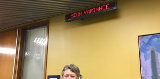11:22 a.m. Sept. 18, 2018. Councillor Janet Davis after the Sign Variance Committee decided to refuse the variances for the billboard application at 3 Bestobell Rd.