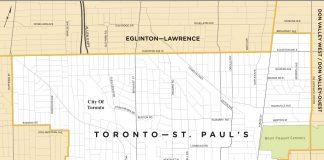 MAP: New Ward - Toronto-St. Paul's
