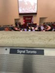 1:37 p.m., Dec. 4, 2018. Signal Toronto nameplate in Toronto Council Chambers.